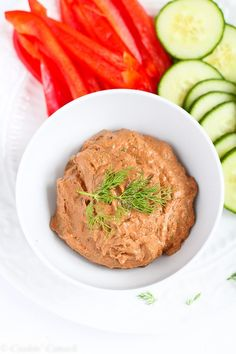 Throw all of the ingredients in a food processor and 3 minutes later you'll have a fantastic Sun-Dried Tomato & Dill Yogurt Dip, perfect for an easy appetizer.