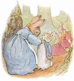 Beatrix Potter illustration from The Tale of Peter Rabbit