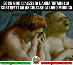 #Anna e #Gigi #vignetteitaliane.it #vignette #italiane #immagini #divertenti #lol #funnypics #umorismo #humour #ridere #risate #musica #tatangelo #dalessio