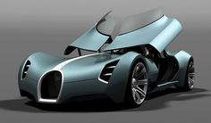 Buggati Aerolithe (see more on http://www.tranchesdunet.com/concept-cars-films-science-fiction/ )