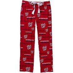 MLB Women's Washington Nationals Knit Sleep Pants, Size: Large, Red