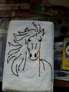 Horse from Roley Poley Painted Pavers on facebook