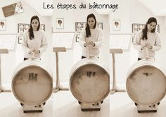 Batonnages at Chantegrive - different steps