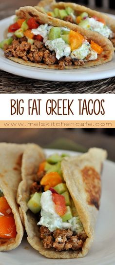These big fat Greek tacos have layers and layers of flavor.