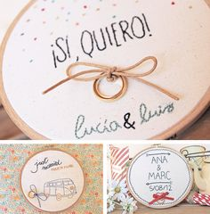 A embroidered hoop at your wedding