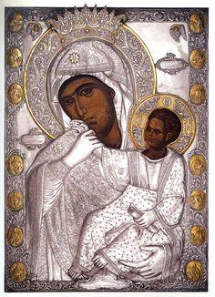 The miraculous Icon of Panagia Paramythia, Holy Monastery of Vatopedi, Mount Athos, Greece