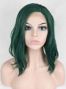 Polaris is a layered and straight wig with a natural hairline. This wig is a trendy straight hair with tips featuring a lace front cap construction. The cool green color gives you a natural look for daily life. The density of the ready-to-wear synthetic h Best Wedding Hairstyles, Short Bob Hairstyles, Wig Hairstyles, Haircuts, Bob Lace Front Wigs, Synthetic Lace Front Wigs, Short Hair Wigs, Human Hair Wigs, Green Wig