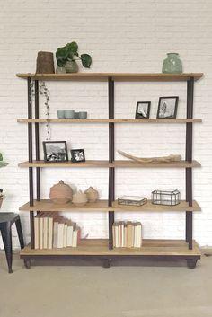 K002 open industriële boekenkast van quip