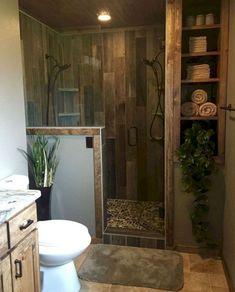 Awesome Rustic Bathroom Ideas for Upgrade Your House Aw. - Awesome Rustic Bathroom Ideas for Upgrade Your House Awesome Rustic Bathro - Rustic Master Bathroom, Rustic Bathroom Designs, Bathroom Interior, Modern Bathroom, Bathroom Ideas, Bathroom Vanities, Bathroom Mold, Bathroom Cabinets, Budget Bathroom