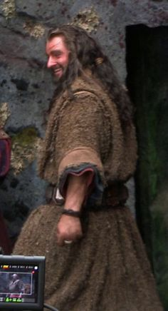 Thorin's hair and garb but RA's grin!
