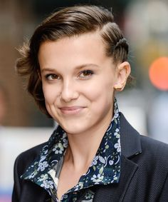 Classic Half-Up Half-Down Hairstyles for Every Hair Length - Millie Bobby Brown from InStyle.com