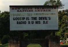 Gossip is the Devil's Radio - Are you His DJ?