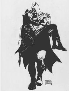 Batman and Catwoman by Eduardo Risso * Comic Books Art, Comic Art, Batman And Catwoman, Bat Family, Music Film, Romantic Love, Music Love, Gotham, Dc Comics