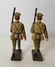 2 Lineol 7,5cm British soldiers (no Elastolin) | eBay