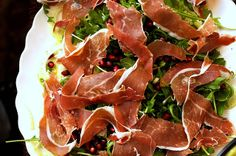 Fennel, Prosciutto, and Pomegranate Salad: This was a hit at Wine of the Month Club. When pairing, I was leaning more towards a Grenache Blanc, and my co-host of our tasting show wanted a Auslese Riesling. You decide.