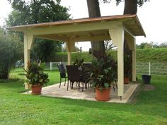 Build the pavilion yourself: Instructions + 25 elegant design ideas Outdoor Areas, Outdoor Structures, Large Gazebo, Pavillion, Pergola Lighting, Wood Crafts, Wood Projects, Entrance, Outdoor Living