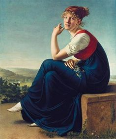 Gottlieb SchickPortrait Of Heinrike Dannecker1802 Oil Painting 24x29 Inch  61x73 Cm printed On Perfect Effect Canvas this Imitations Art DecorativeCanvas Prints Is Perfectly Suitalbe For Laundry Room Decoration And Home Decor And Gifts