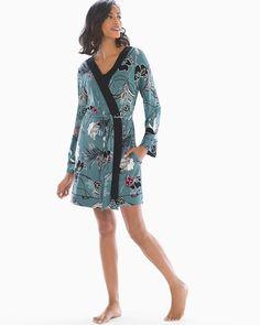 Soma Cool Nights Long Sleeve Short Robe Lounge e3f513de1