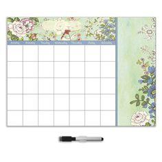 WallPops Vintage Bazaar Dry Erase Monthly Calendar Decal With Notes