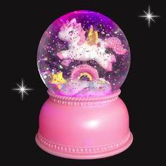 Unicorn snowglobe lampje! www.livelifehappy.nl