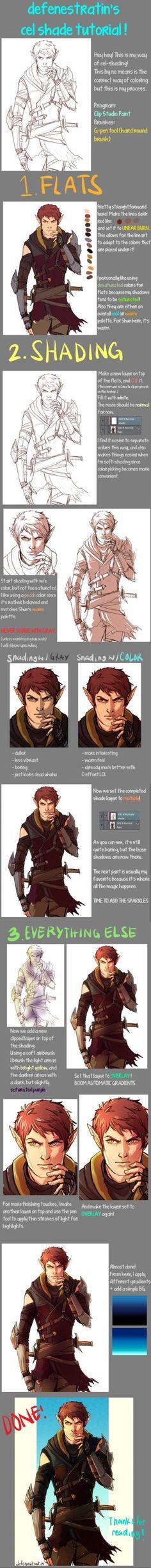 How I cel shade things! by defenestratin.deviantart.com on @DeviantArt