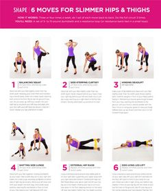 Print It (or Pin It)! The Slimmer Hips and Thighs Workout - Shape Magazine