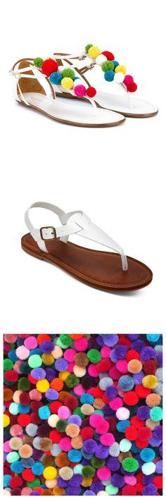 DIY Aquazzura inspired pom pom sandals! JUST ADD pom poms! Get these white sandals from Target.com and pom poms from Etsy.  #DIY #designUjustAdd