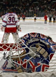 Abandoned mask looks sad. Lundqvist in the background.
