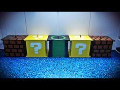 Da guckt Super Mario aber neidisch! ;) Gamer Tischchen / Hocker mit Stauraum nicht nur fürs Kinderzimmer