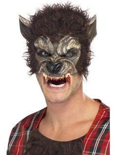Smiffys Werewolf Half Face Mask Brown with Fur and Teeth - http://moviemasks.co.uk/shop/smiffys-werewolf-half-face-mask-brown-with-fur-and-teeth