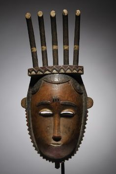 Lot n°49  Baule Mask Art Handlers, Work In Africa, Ivory Coast, Ivoire, Tribal Art, 19th Century, Contemporary Art, Auction, Wwi