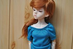 MSD clothes. Turquoise tshirt by ThreeMice on Etsy, $12.00