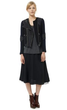 Rebecca Taylor tweed and leather moto jacket