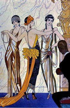 George Barbier, Paris 1924. - ✨Vintage, Arts, Architecture✨