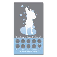 Grooming customers loyalty cards