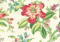 Braemore Fabric Tone on Tone Striped Floral Cotton Drapery Upholstery | eBay