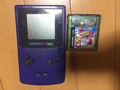 Game Boy Color Console Purple w/ Warioland 3 Japan Nintendo