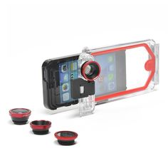 PhotoProX -  waterproof, military-grade case for iPhone #photographer's. Includes four interchangeable lenses. Check out the rafting video the filmed with this #case.