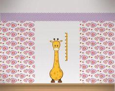 Fancy Buntes Wandtattoo Messlatte Giraffe Messlatte Giraffe Wandtattoo in einer H he von cm
