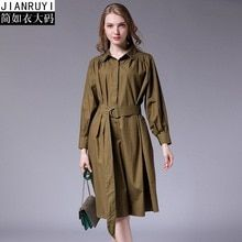 46f8acb63c2db 2018 Autumn Elegant Woman Dresses Sashes Loose Maternity Dress Casual Pregnancy  Clothes Cotton Button Pockets Plus Size XL-4XL