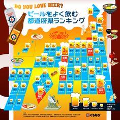 あなたの県は何位ですか?「ビールをよく飲む都道府県ランキング」