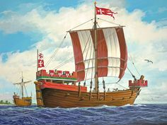 Crusader ship in the Meditteranean