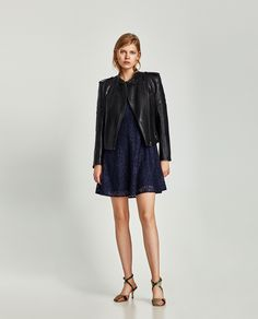 ZARA - WOMAN - LACE DRESS WITH SHORT SLEEVES