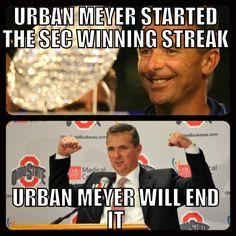 Urban Meyer Winning Streak