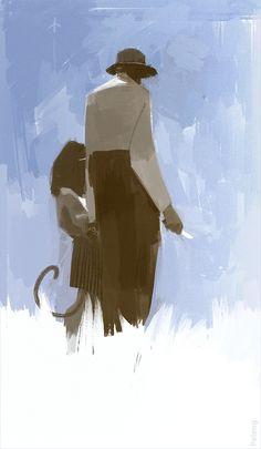 """Noon"" by Sergey Kolesov Print available at Sergey Kolesov, Guache, Portrait Art, Figure Drawing, Digital Illustration, Art Direction, Art Inspo, New Art, Watercolor Art"