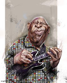 B.B. King  (by Sebastian Cast -Dibujante)