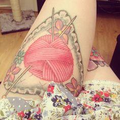 20 Tattoos For Knitting & Crochet Lovers