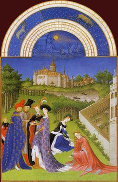 Les Très Riches Heures du duc de Berry, Avril