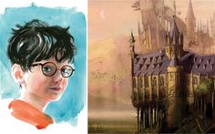 "The new face of Harry Potter. ""The world of Harry Potter is to be given a full visual makeover in a completely re-designed set of new edition. Harry Potter New, Rowling Harry Potter, Harry Potter Movies, Fall Travel Outfit, Dark Wizard, New Face, Hogwarts, Artist, Painting"