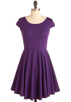 bridesmaid dress---$44.99 In Good Grape Dress - Short, Purple, Black, Cutout, A-line, Cap Sleeves, Party, Lace, Solid